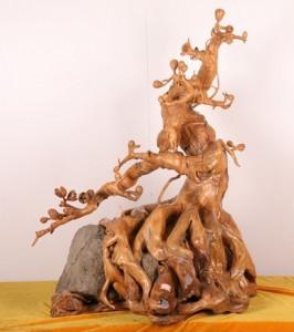 木材根雕喷砂机
